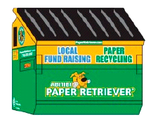Paper Retriever Recycling Bin Illustration