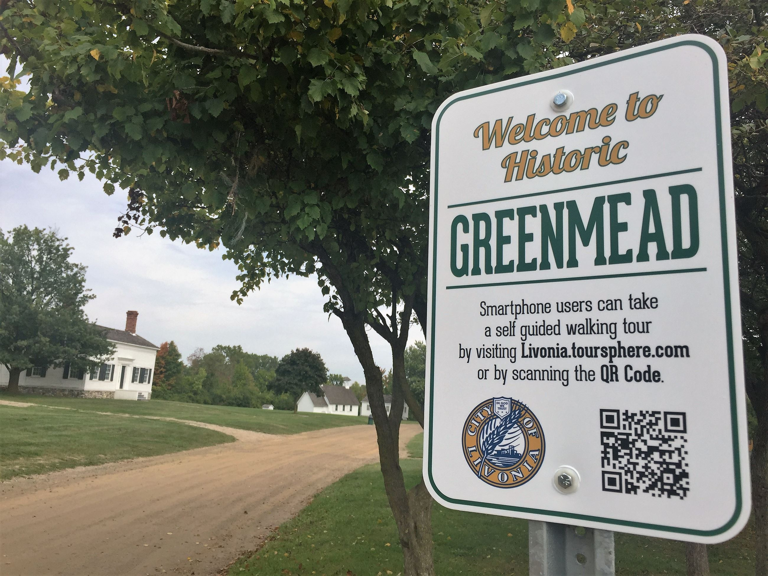 Welcome to Historic Greenmead Self Tour Sign